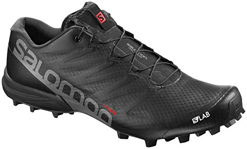 Salomon Unisex S-Lab Speed 2 Running Trail Shoes Black/Racing Red/White 7.5