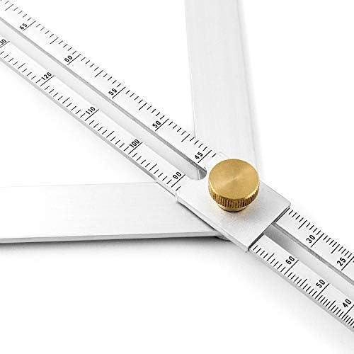 Righello angolare angolare in lega di alluminio QWORK strumento di misurazione multi-angolo per la lavorazione del legno