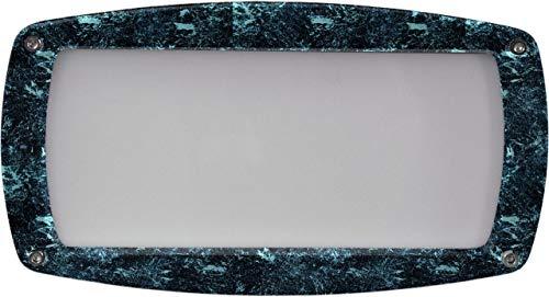 DABMAR LIGHTING DSL1073-VG Recessed Open Face Brick/Step/Wall Light, Verde Green