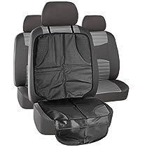 MTURE Car Seat Protector with Organiser,Praktische Auto Sitzschoner, Wasserfestes, Hochwertiges Material Schützt Ihre Autositze vor Schmutz - Schwarz