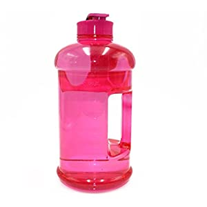 2.2l Large Sport Water Bottle Gym Workout Jug BPA Free Leakproof with Easy Carry Handle by Shineshin (PINK)