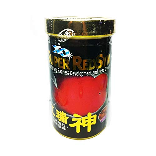 - XO Ocean Free Super Red Syn Induce Strong Redness Development and Head Growth Flowerhorn Cichlid Fish Food 120G