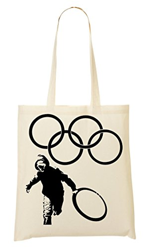 Stealing Sacchetto Tote Di Olympic Banksy Rings UdAw0qq