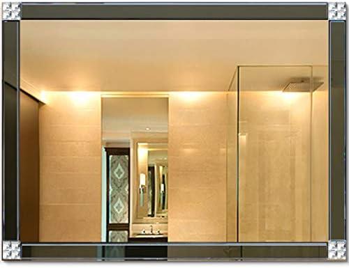 Espejo retrovisor sin Marco superpuesto a Rayas Espejo para baño montado en la Pared Espejo de Belleza: Amazon.es: Hogar