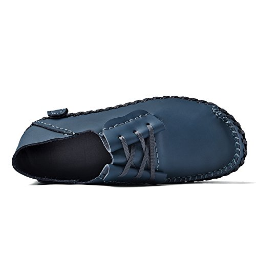 Blu Mens Leather Flat Shoes Mokassin Brown Ubfen B Casual Nero Pantofole Oxford Sommer Uk Blue Eu Giallo Chiaro Driving Come 11 46 Split dwYqvBY