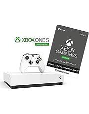 Xbox One S All Digital - Consola + Suscripción Xbox Game Pass Ultimate - 3 Meses