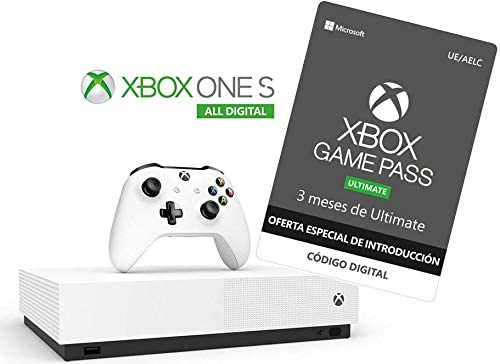 Xbox One S All Digital - Consola + Suscripción Xbox Game Pass ...