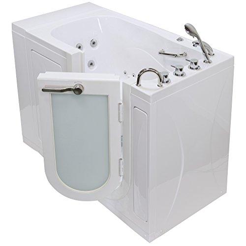 Walks Hydro (Ella OA3052-R Malibu Acrylic Walk-in Hydro Massage Bathtub, RHS Outward Swing Door, Thermostatic Faucet, Right 2