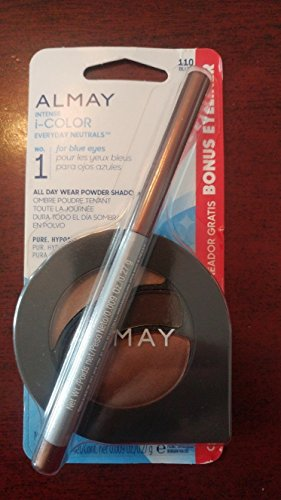 Almay Intense i-Color Everyday Neutrals 110 for Blue Eyes All Day Wear Powder Shadow & Bonus Eyeliner by Almay
