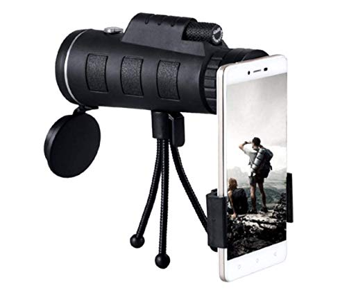 Monocular Telescope by DANMO, 40×60 High Power Monocular with Smartphone Holder and Tripod,Single Hand Focus for Outdoor, Bird Watching,Camping,Hunting,Travel