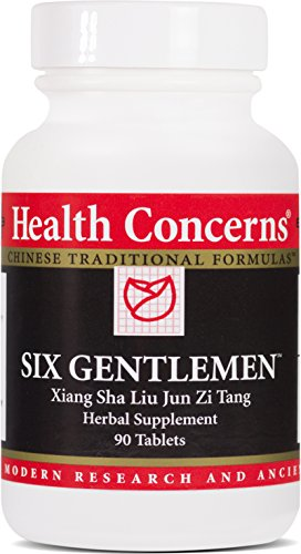 Health Concerns – Six Gentlemen – Xiang Sha Liu Jun Zi Tang Herbal Supplement – Harmonizes Spleen and Stomach Function and Reduces Phlegm – 90 Tablets