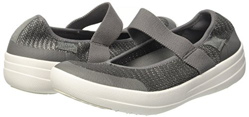 Pour 551 Mtallique anthracite Gris Uberknit Femmes tain Mary Merceditas Weave metal Janes Fitflop W7P4qwYP