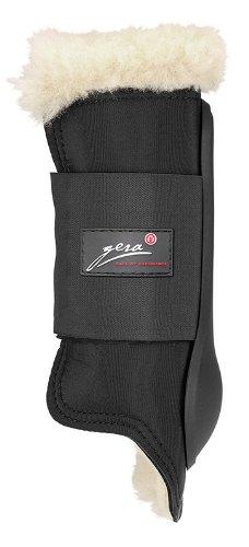 Gera Supratex frontal tendón botas con cordero negro R1645FblackXS