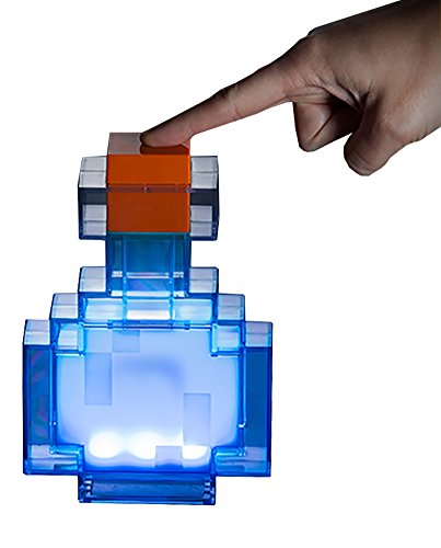 ThinkGeek Minecraft Potion Bottle - Lights Up and Changes Color