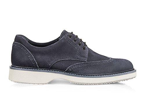 Lacets En Daim Gris Hommes Hogan Chaussures