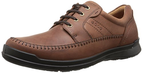 Textured Moc (ECCO Men's Howell Moc Tie Oxford, Cognac, 42 EU/8-8.5 M)