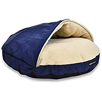 Amazon.com : Snoozer Cozy Cave, Khaki, Large : Pet Beds