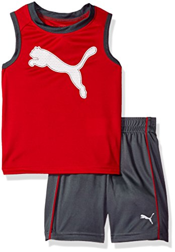 Price comparison product image PUMA Baby Boys' 2 Piece Short and Muscle Set,  Smoke Grey,  18M