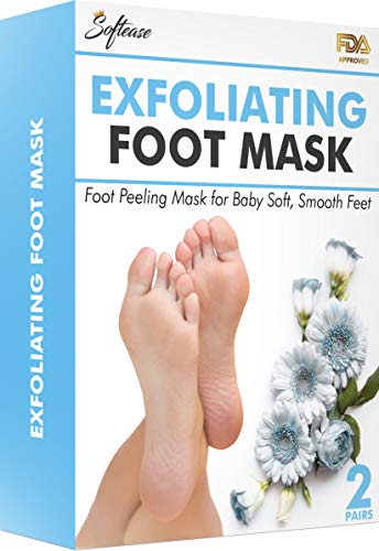 Foot Peel Mask 2 Pairs - Natural Foot Peeling Mask with Antioxidant Rich Formula for Softer, Smoother Feet in a Week | Remove Calluses & Dead Skin | Moisturize & Exfoliate Rough Feet | Baby Foot Peel -