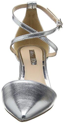Argento AVA Donna Scarpe Silver 63 Chiusa Tacco Punta KG Miss col 5qEC8w