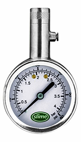 Slime 20049 Large Face Dial Tire Gauge, 5-60 PSI by Slime