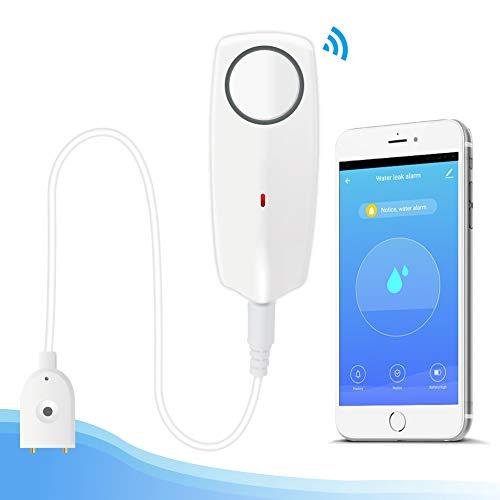 EACHEN Water Alarm Sensor WiFi Water Leak Detector with 60dB Sound, Overflow Flood Leakage Alerts, Remote Monitor Leak…