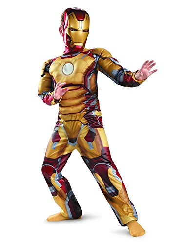 Marvel Iron Man 3 Iron Man Mark 42 Boy's Halloween Costume (SMALL) - Mark 6 Iron Man Costume