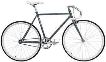 Critical Cycles Classic Fixed-Gear Single-Speed bicicleta con Pista Drop Bars, Slate, 43cm/X-Small