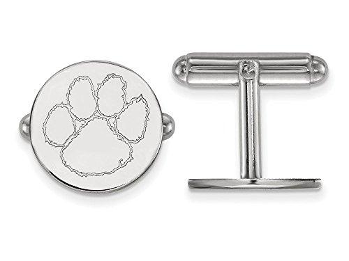 Clemson Cuff Links (Sterling Silver)