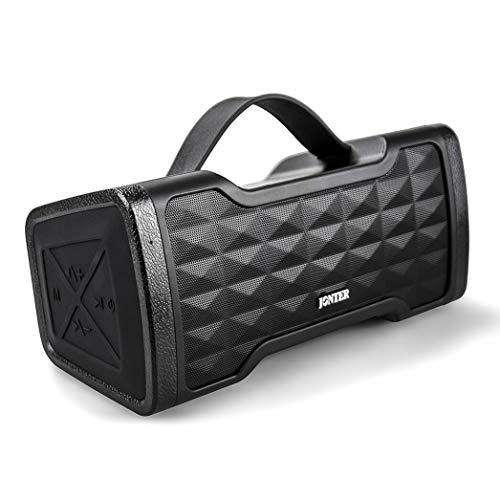 JONTER IPX5 Waterproof Bluetooth Speaker with Rich Bass Loud Stereo Sound, Portable Wireless Speaker for Home/Outdoor/Beach/Travel – Black