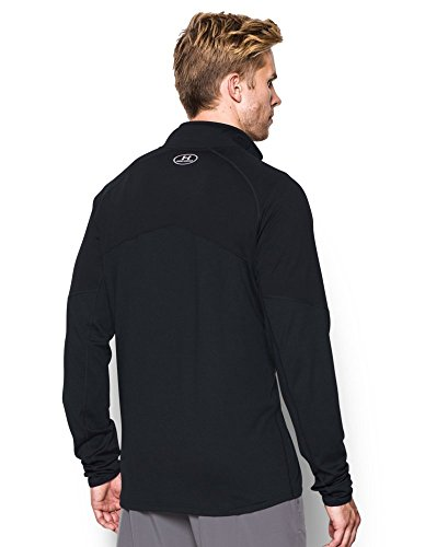 Under Armour Men's No Breaks Run 1/4 Zip, Black/Black, Small by Under Armour (Image #1)
