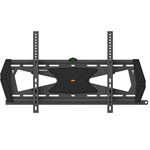 Blk Flat Panel - QualGear Heavy Duty Tilting TV Wall Mount for 37
