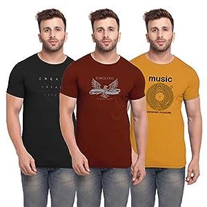 BULLMER Men's Slim Fit T Shirt (Pack of 3)