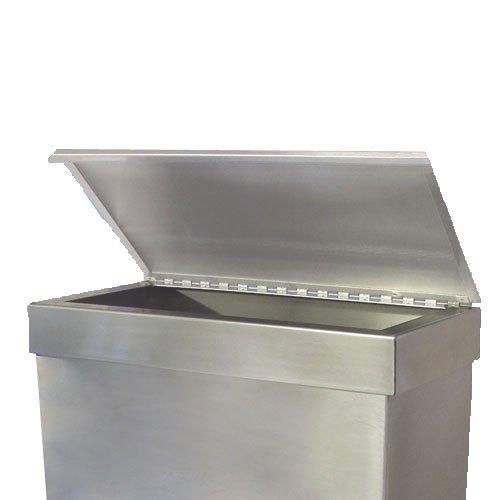 Stainless Steel Covered Liner Frame for 16'' x 8'' x 24'' Rectangular Waste Bin