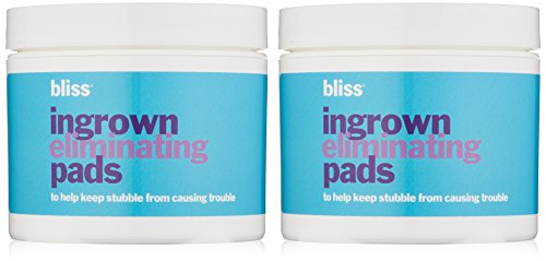 bliss Ingrown Eliminating Pads (Set of 2) | Use Between Waxing/Shaving Sessions | Ingrown Hair Removal Pads | 100 Pads in Total by bliss