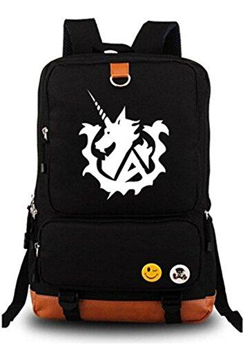 Gumstyle Anime GUNDAM Luminous Large Capacity School Bag Cosplay Backpack Black and Blue