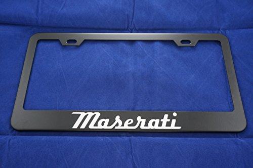 Maserati Black License Plate Frame
