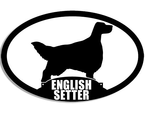 Oval ENGLISH SETTER Silhouette Sticker (dog breed)