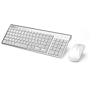 joyaccess wireless keyboard combo full size whisper quiet wireless keyboard and. Black Bedroom Furniture Sets. Home Design Ideas