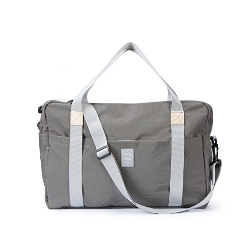 DigitalLife Waterproof Foldable Duffle Bag,Luggage Bags for Outdoors,Grey - Lightweight,Durable,Convenient,Versatile for Travel,Sport,Yoga(Gift Box)