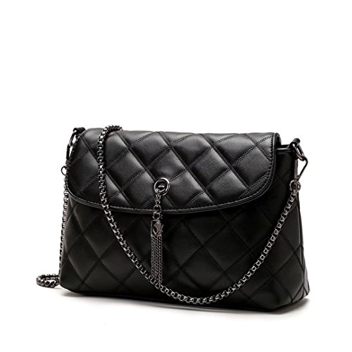 women's leather body bag woman bag bag shoulder Black Black cross small hobo handbag WxHvp8Ogqw