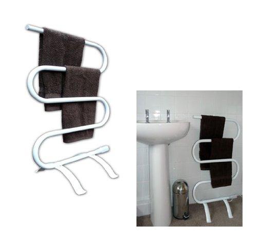Good Ideas 890 - Scaldasalviette portatile con piede, per l'asciugatura delle salviette in qualsiasi condizione climatica. Possibilità di montaggio a parete Manufactured for Good Ideas