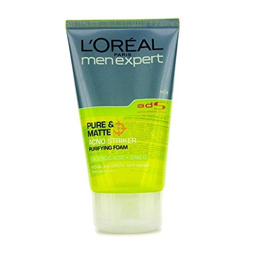 New L'oreal Men Expert Pure & Matte Acno Striker Purifying Foam (Expert Matte)