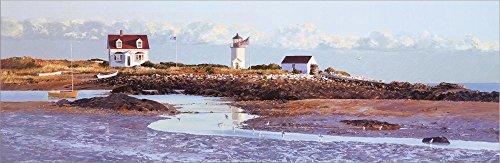 (Goat Island Light II Laminated Art Print, 36 x 12 inches)
