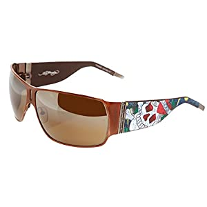 Ed Hardy EHS 012 Love Kills Slowly Sunglasses, Cocoa