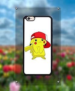 Iphone 6 Funda Case, Cartoon Pikaqiu Pretty Attractive Kawaii Style Ultra Slim Distinctive Impact Resistant Back Film Protector Funda Case For Iphone 6 / 6s (4.7 inch)
