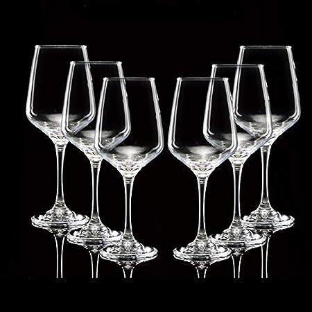 JHM-Copas para Vino Tinto,355 Ml,Conjunto de 6 Piezas,Copas Altamente Funcionales para Vino Tinto,Taza de Agua Diseñado para Varias Variedades de UVA