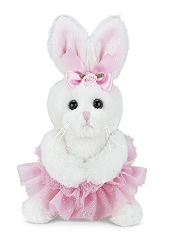 Bearington Collection Lil' Twirls Plush Stuffed Animal Bunny Rabbit Ballerina with Tutu, (Ballet Bear)