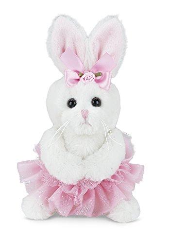 Bearington Collection Lil' Twirls Plush Stuffed Animal Bunny Rabbit Ballerina with Tutu, (Ballet Bunny)