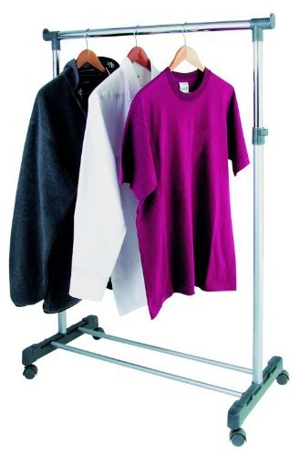 Hochwertiger Kleiderständer, Garderobenständer, Kleiderstange, Rollwagen, Kleiderwagen, Garderobenwagen (95-170cm)